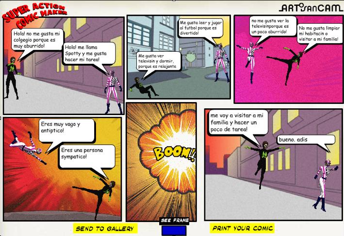 Super action comic maker – Exuc