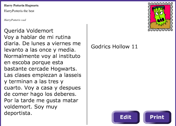 harry potter letter from justus